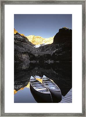 Yoho National Park, Lake Ohara, British Framed Print by Ron Watts