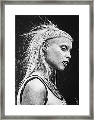 Yolandi Visser Framed Print by Taylan Apukovska