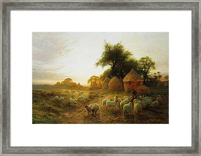 Yon Yellow Sunset Dying In The West Framed Print by Joseph Farquharson