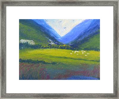 Framed Print featuring the painting Yonder by Trilby Cole