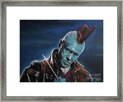 Yondu Framed Print by Tom Carlton