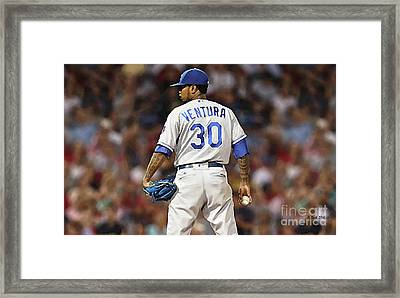 Kansas City Royals, Yordano Ace Ventura,  Painting, Forever Blue Framed Print