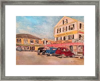 York Beach In Maine Framed Print