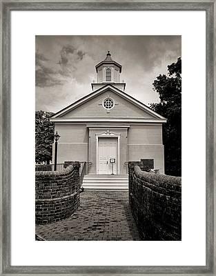 York-hampton Parish Church - Toned Bw Framed Print by Stephen Stookey