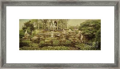 York House Gardens Statues - Twickenham Framed Print