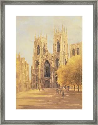 York Minster Framed Print by Peter Miller