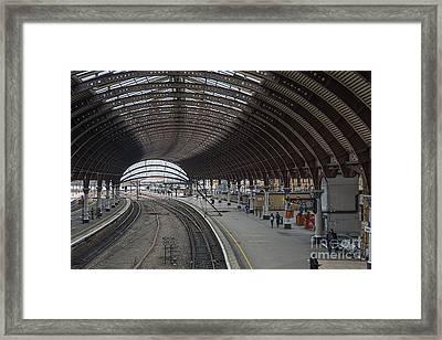 York Rail  Station  Northbound Framed Print