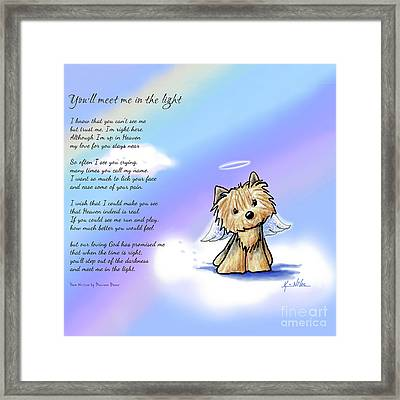 Yorkie Memorial Framed Print by Kim Niles