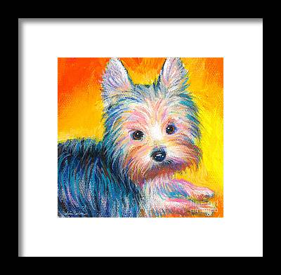 Designs Similar to Yorkie Puppy Painting Print