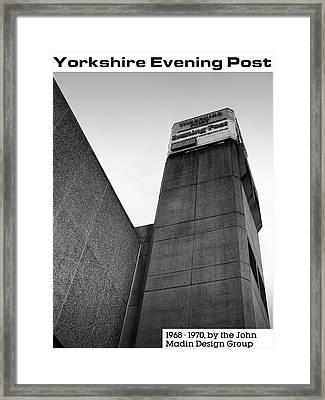 Yorkshire Evening Post Framed Print