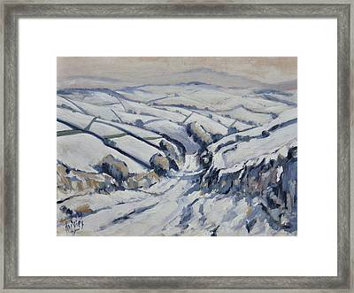 Yorkshire In The Snow Framed Print