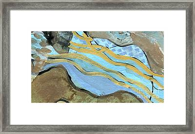 Yorkshire Moors Map 4 Framed Print