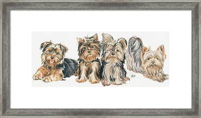 Yorkshire Terrier Puppies Framed Print
