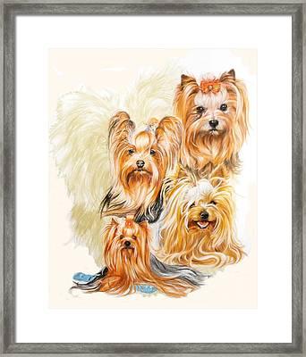 Yorkshire Terrier W/ghost Framed Print
