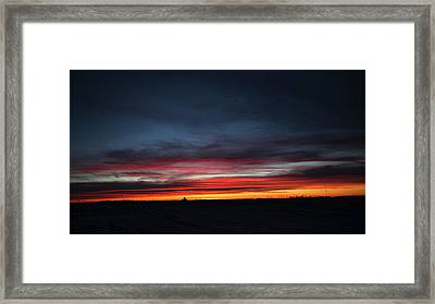 Yorkton Sunrise Framed Print by Ryan Crouse