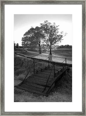 Yorktown - Battlefield Foot Bridge Framed Print