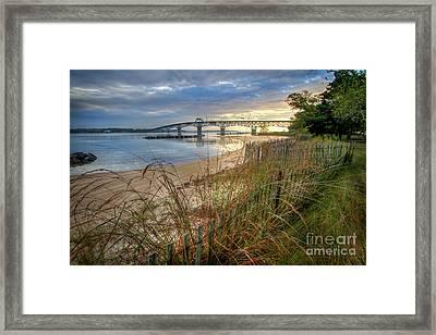 Yorktown Beach Sunrise Virginia Framed Print