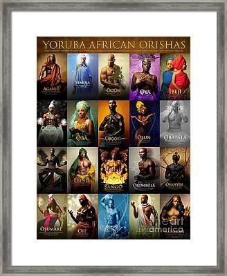 Yoruba African Orishas Poster Framed Print by James C Lewis