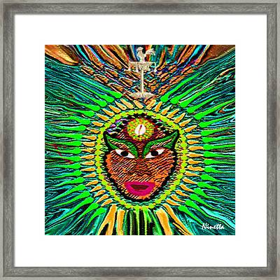Yoruba Collection  Orula Framed Print by Andrea N Hernandez
