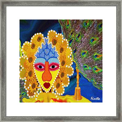 Yoruba Collection  Oshun Framed Print by Andrea N Hernandez
