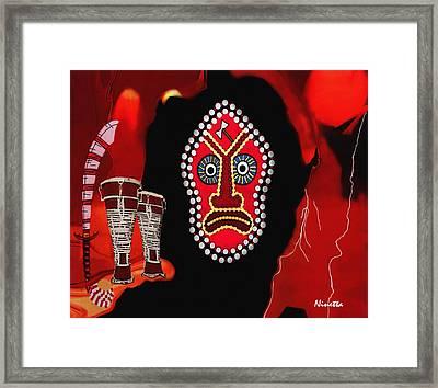 Yoruba Collection Shango Framed Print by Andrea N Hernandez