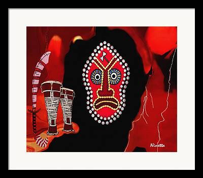 Shango Framed Prints