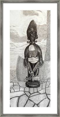 Yoruba Ibeji Female Framed Print by Duwayne Washington
