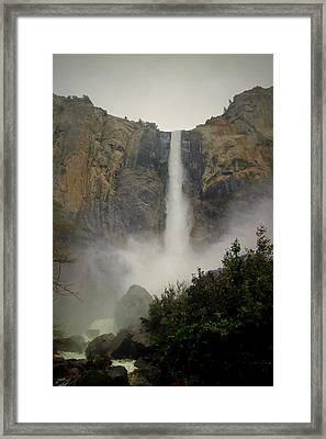 Yosemite 1 Bridalveil Falls Framed Print