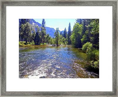 Yosemite River At Ease Framed Print