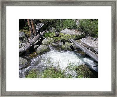 Yosemite Whitewater Framed Print