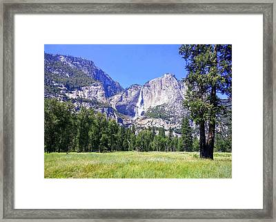 Yosemite Valley Waterfall Framed Print
