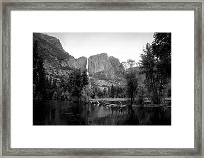 Yosemite A Scenic View To Remember B And W Framed Print