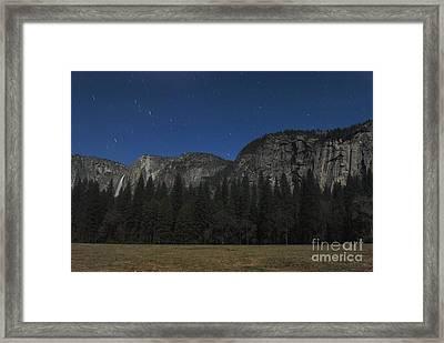 Yosemite At Night Framed Print by Richard Verkuyl