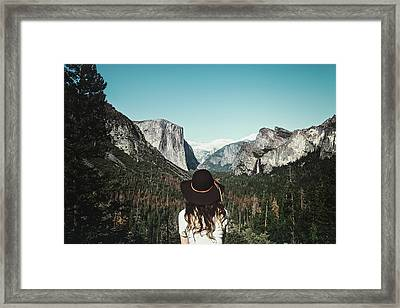 Yosemite Awe Framed Print by Marji Lang