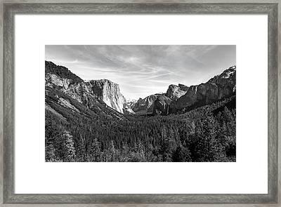 Yosemite B/w Framed Print