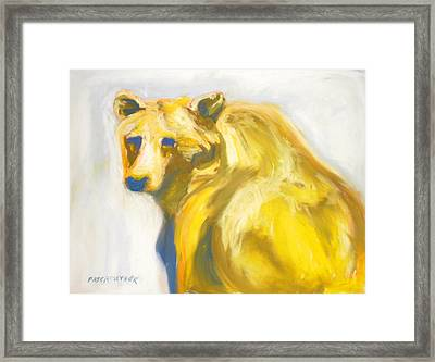 Framed Print featuring the pastel Yosemite Bear by Pat Crowther