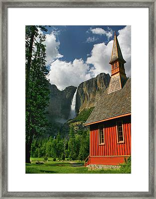 Yosemite Chapel Framed Print by Tom Kidd