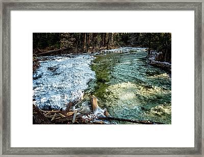 Yosemite Creek With Some Frazil Ice Framed Print by Belinda Greb