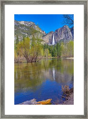 Framed Print featuring the photograph Yosemite Falls Cook's Meadow by Scott McGuire