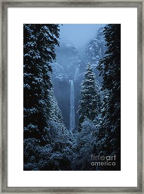 Yosemite Falls In January Framed Print