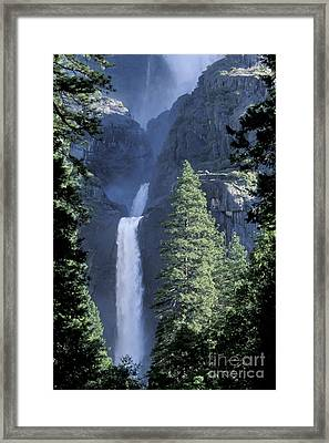 Yosemite Falls In Spring Framed Print by Stan and Anne Foster