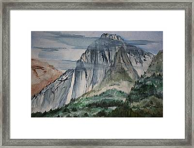 Yosemite Falls Framed Print by Julie Lueders