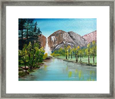 Yosemite Falls Framed Print by Larry Hamilton