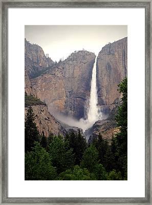 Yosemite Falls Vertical Framed Print