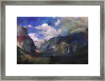 Yosemite H2o Color Framed Print