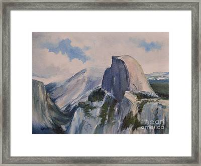 Yosemite Half Dome From Glacier Point Framed Print by Karen Winters