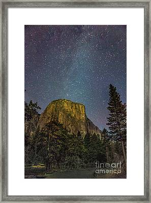 Yosemite Half Dome Milkyway Framed Print by Timothy Kleszczewski