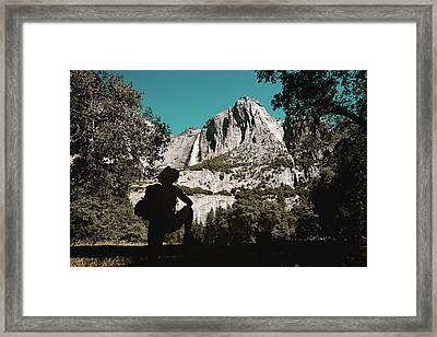 Yosemite Hiker Framed Print by Marji Lang