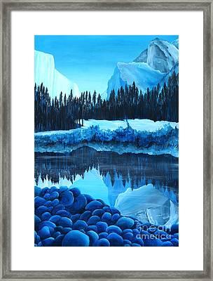Yosemite In Blue Framed Print by Madelaine Kobe