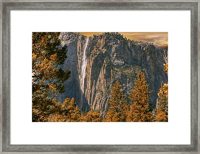 Yosemite In Fall Framed Print by Michael Cleere